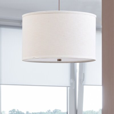 Chasse 3-Light Line Shade Drum Pendant
