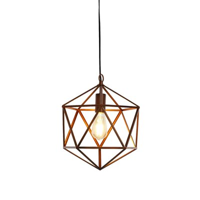 Alrai Wire Swag 1-Light LED Geometric Pendant