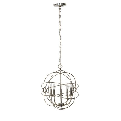 Harmon Chrome 5-Light Mini Chandelier