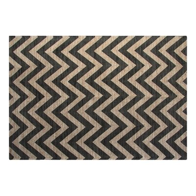 Printed Grey Chevron Outdoor Area Rug