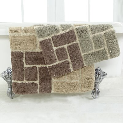 Berkeley 2 Piece Bath Rug Set Color: Tan