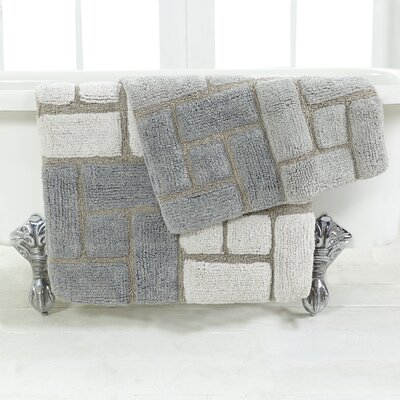 Berkeley 2 Piece Bath Rug Set Color: Grey