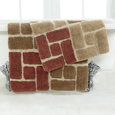 Berkeley 2 Piece Bath Rug Set Color: Adobe