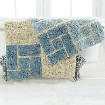 Berkeley 2 Piece Bath Rug Set Color: Aquamarine