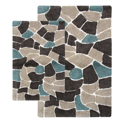 Boulder 2 Piece Bath Rug Set Color: Slate