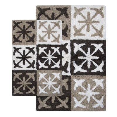 Columbia 2 Piece Bath Rug Set Color: Sand Dunes