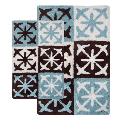 Columbia 2 Piece Bath Rug Set Color: Chocolate