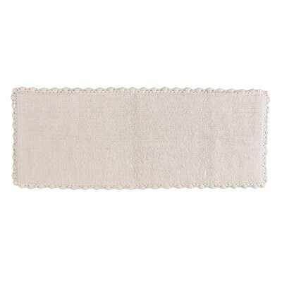 Crochet Bath Runner Color: White