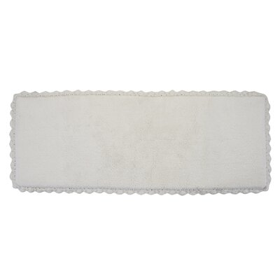 Crochet Bath Runner Color: Ivory