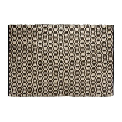 SunnyVale Hand-Woven Black Area Rug Rug Size: Rectangle 2 x 3