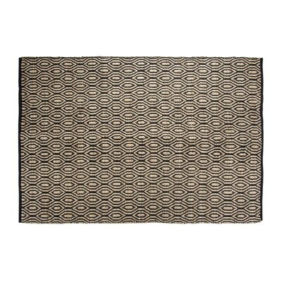 SunnyVale Hand-Woven Black Area Rug Rug Size: Rectangle 5 x 7