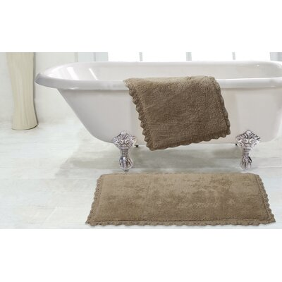 Crochet 2 Piece Bath Rug Set Color: Linen