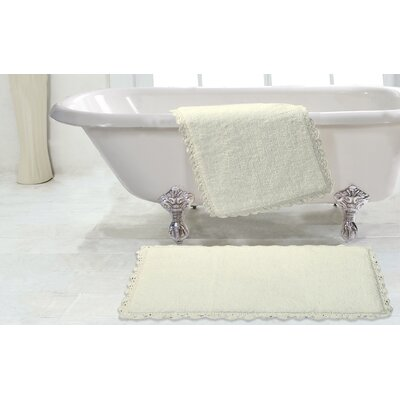 Crochet 2 Piece Bath Rug Set Color: Ivory