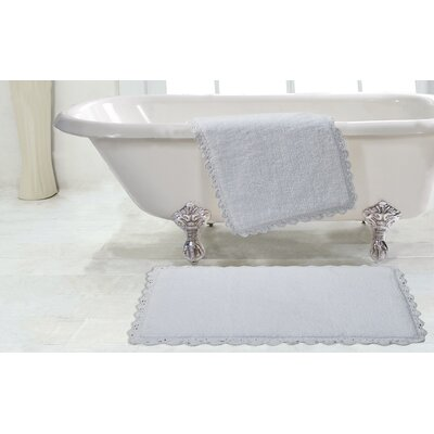 Crochet 2 Piece Bath Rug Set Color: White