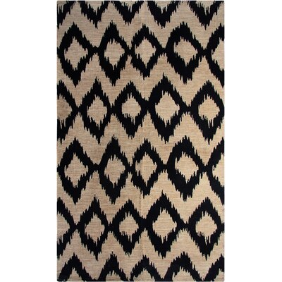 Printed Navy Ikat Area Rug