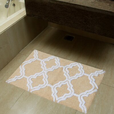 2 Piece Double Quatrefoil Bath Rug Set Color: Straw