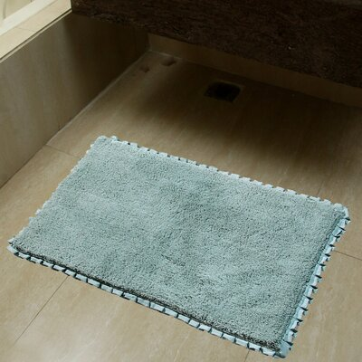 2 Piece Verona Pleat Trim Bath Rug Set Color: Spa
