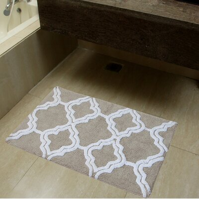 2 Piece Double Quatrefoil Bath Rug Set Color: Lunar Gray