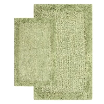 Bella Napoli Contemporary 2 Piece Bath Rug Set Color: Bottle Green