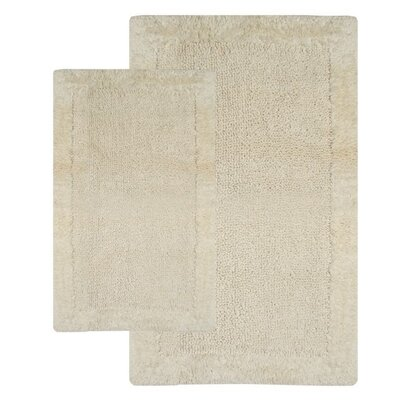Bella Napoli Contemporary 2 Piece Bath Rug Set Color: Ivory