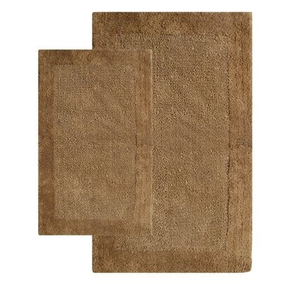 Bella Napoli Contemporary 2 Piece Bath Rug Set Color: Linen