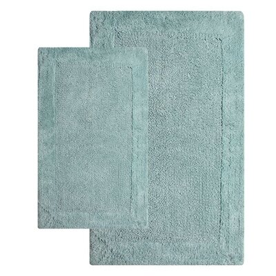 Bella Napoli Contemporary 2 Piece Bath Rug Set Color: Moonstone