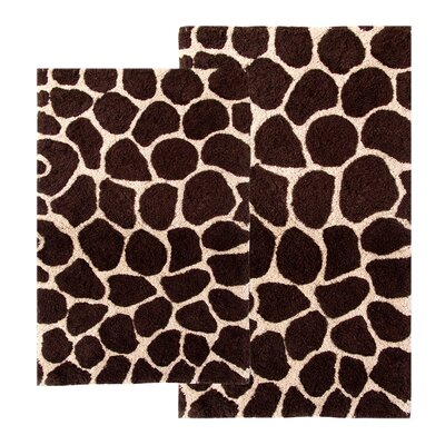 Safari Giraffe Contemporary Bath Rug