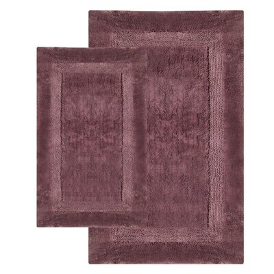 Olympia Contemporary Bath Rug Color: Amethyst