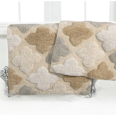 Alloy Moroccan Tile 2 Piece Bath Rug Set Color: Spa