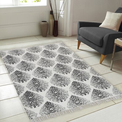 Fuga Chindi Hand Woven Gray Indoor Area Rug