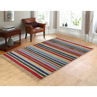 Lori Red/Yellow Hand-Woven Area Rug