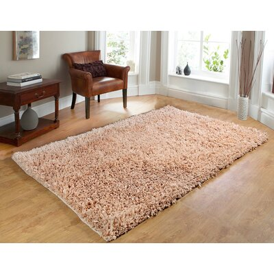 Comfy Hand-Woven Shag Linen Area Rug Rug Size: 73 x 93