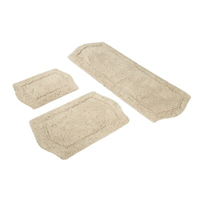 3 Piece Memory Foam Bath Rug Set Color: Taupe