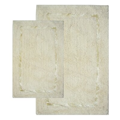 Greenville Bath Rug Set Color: Vanilla