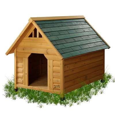 Alpine Lodge Dog House Size: Small (33 H x 25.5 W x 34.5 L)