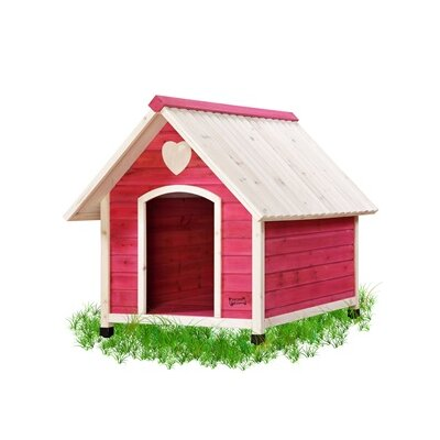 Arf Frame Dog House in Pink Size: X Small (22.75 H x 22.25 W x 22 L)