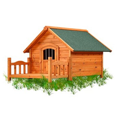 Porch Pups Dog House Size: Medium (26 H x 31.75 W x 30.5 L)