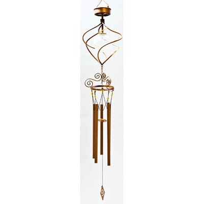 Solar Powered Spiral LED Wind Chime