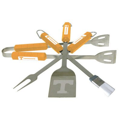NCAA 4-Piece BBQ Grill Tool Set NCAA Team: Tennessee
