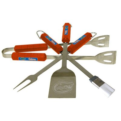NCAA 4-Piece BBQ Grill Tool Set NCAA Team: Florida Gators