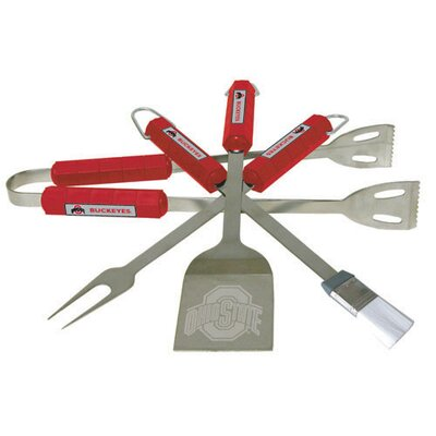NCAA 4-Piece BBQ Grill Tool Set NCAA Team: Ohio State