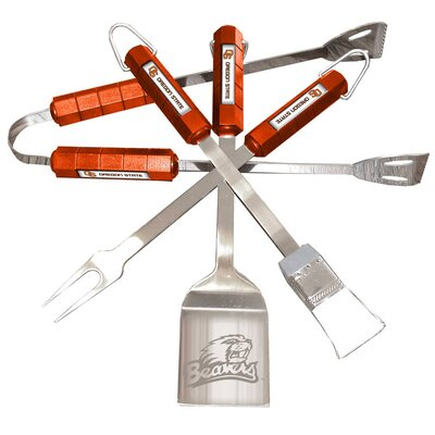 NCAA 4-Piece BBQ Grill Tool Set NCAA Team: Oregon State