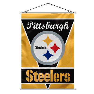 NFL Wall Banner Flag NFL Team: Pittsburgh Steelers 94713B