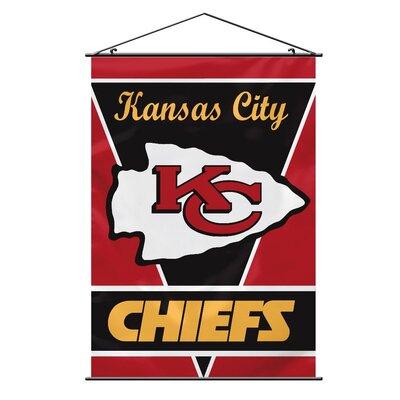 NFL Wall Banner Flag NFL Team: Kansas City Chiefs 94725B