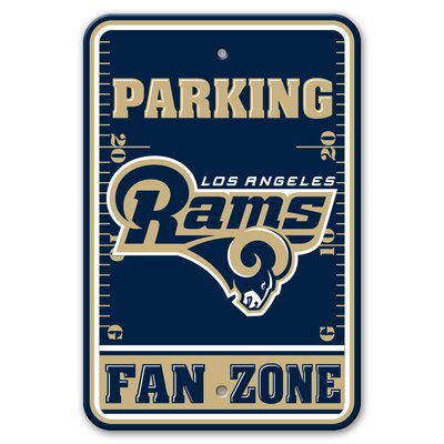 NFL Plastic Fan Zone Parking Sign NFL Team: Los Angeles Rams