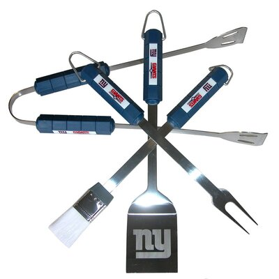 Siskiyou Products NFL 4-Piece BBQ Grill Tool Set - NFL Team: New York Giants at Sears.com