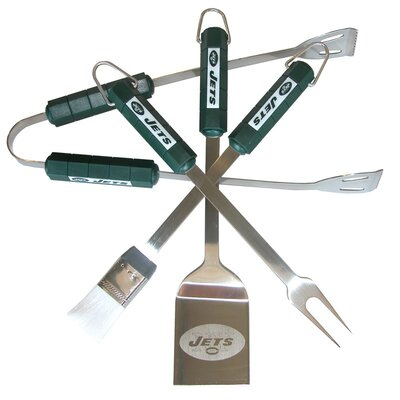 Siskiyou Products NFL 4-Piece BBQ Grill Tool Set - NFL Team: New York Jets at Sears.com