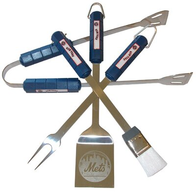 Siskiyou Products MLB 4-Piece BBQ Grill Tool Set - MLB Team: New York Mets at Sears.com