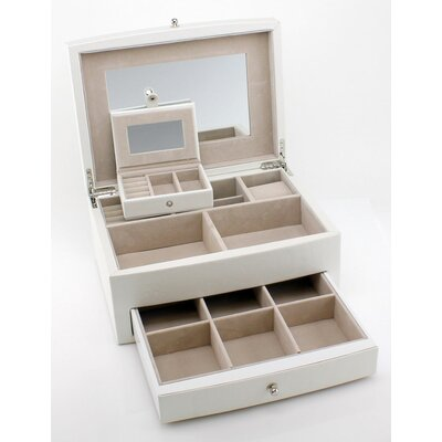 Heiden Abigail Jewelry Box HJ002-white leather