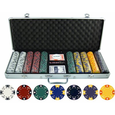 500 Piece Ace King Tricolor Clay Poker Chip Set 500135-AK